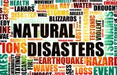 stock photo of tragic  - Natural Disasters Grunge as a Art Background - JPG