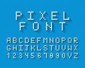 Постер, плакат: Pixel vector font