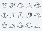 stock photo of outerwear  - Clothing  icons - JPG