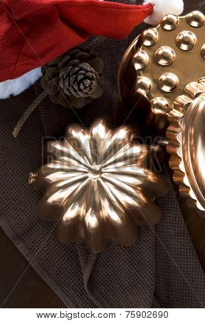 Copper Molds With Pinecone