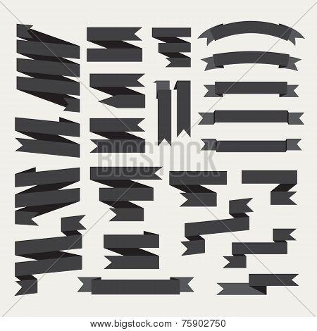 Black ribbons set