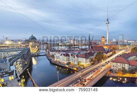 Evening In Berlin, Aerial View