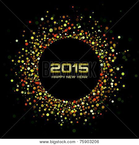 Gold Bright New Year 2015 Background