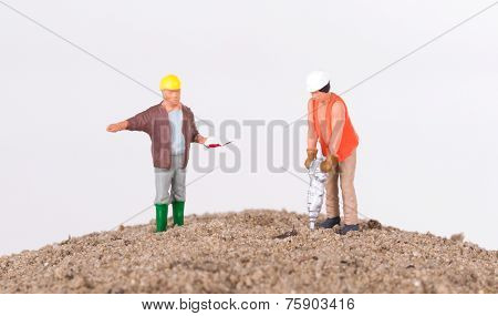 Miniature Worker With A Power Drill