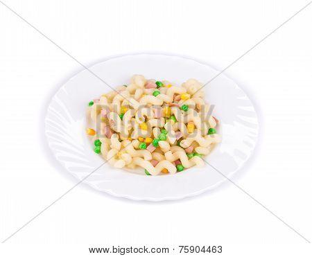 Plate of spaghetti closeup