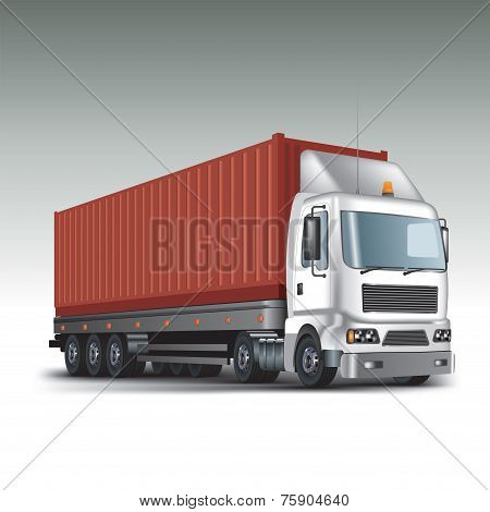 Truck With Cargo Container