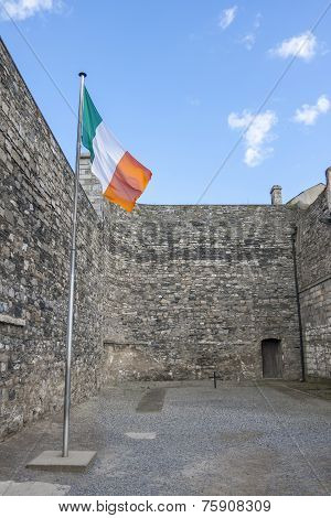 Irish Flag In Kilmainham Gaol In Dublin
