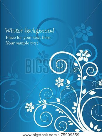 winter floral background