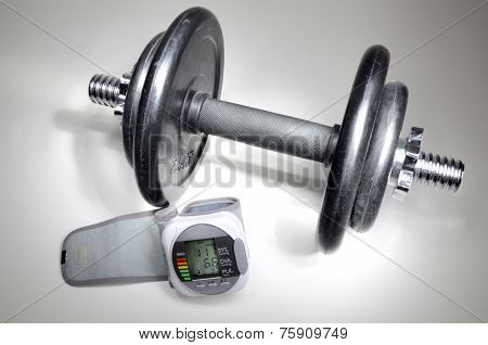 Dumbbell And Pressure Measuring Device