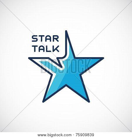 Star Talk Abstract Vector Template