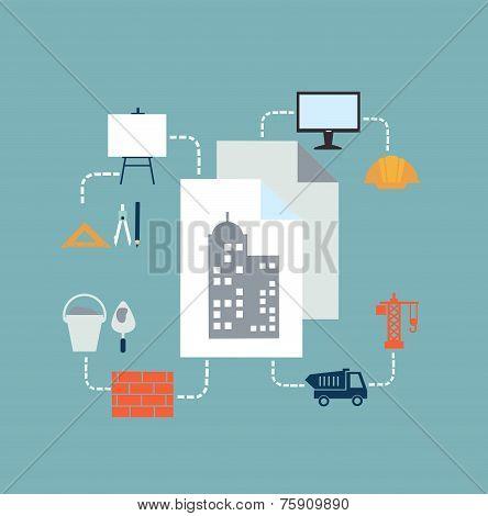 architect drawings illustration