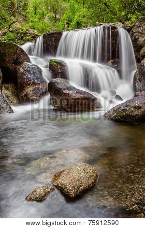 Waterfall during the autumn near the Queimadela Dam in the Municipality of Fafe. Portugal