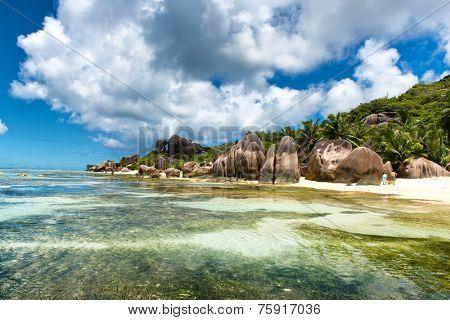 Enchanting Tropical Paradise of Seychelles - La Digue Island. A Perfect Venue for Tourist Destination.