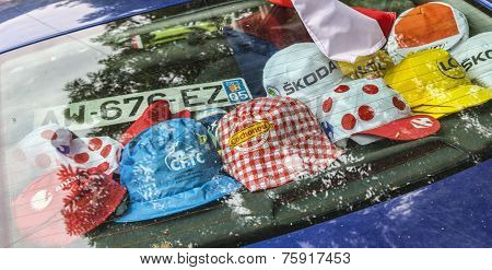 Promotional Caps During Le Tour De France