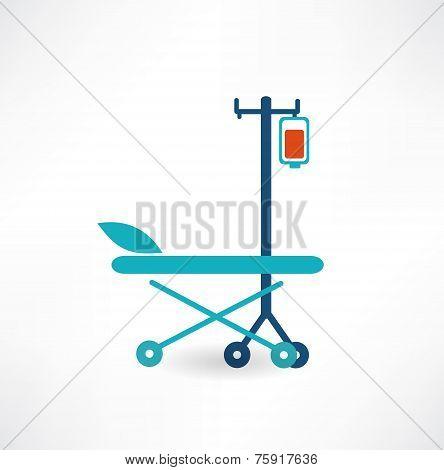 Blood Donation Concept Illustration. Flat modern style vector design
