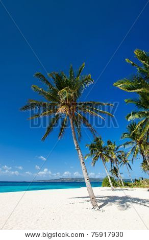 Perfect tropical white sand beach on Boracay island, Philippines