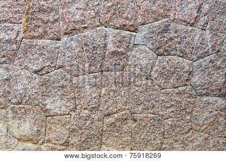 Frame of Stone Wall with Irregular Shapes and Showing Texture, Ideal for Backgrounds