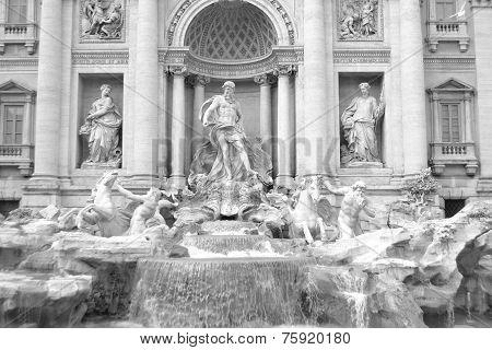 Trevi Fountain (fontana Di Trevi).