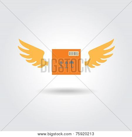 abstract box design concept fast delivery vector logo  template