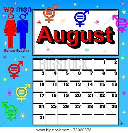 Calendar For August Festival Women's Equality