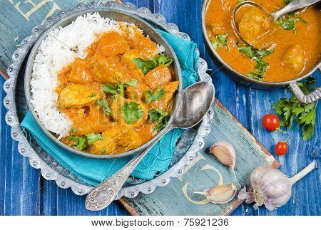 Pumpkin curry with chicken