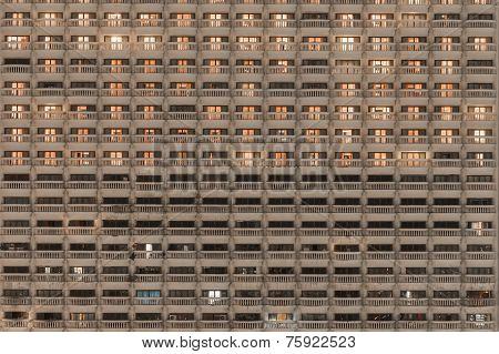 Building Balconies facade