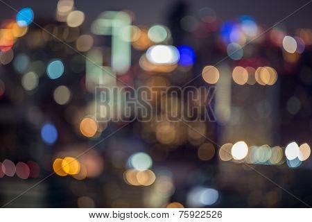 City light blur bokeh, defocused background
