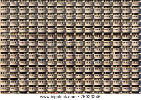 Balconies of a building background