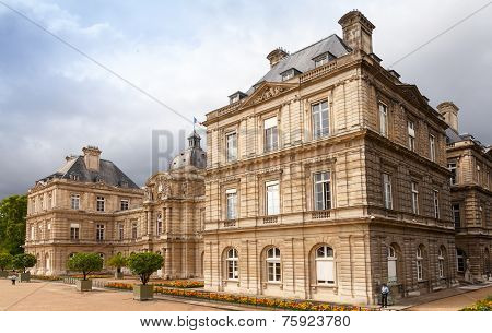 Luxembourg Palace In Luxembourg Gardens, Paris, France