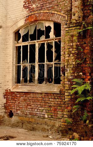 Old Window In A Deserted Hall