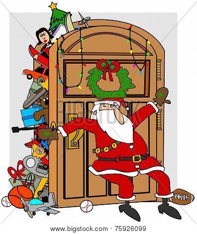Santa's stuffed closet