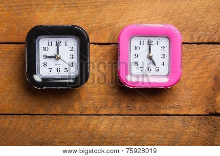 Black And Pink Clock, Nine To Five, Office Hours