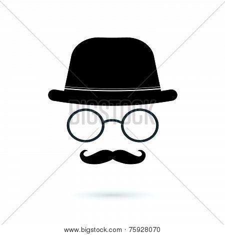 Glasses And Mustache Illustration