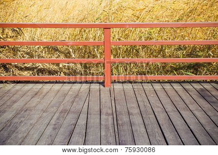 Railing,floor And Reed