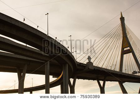Bhumibol Bridge in Thailand