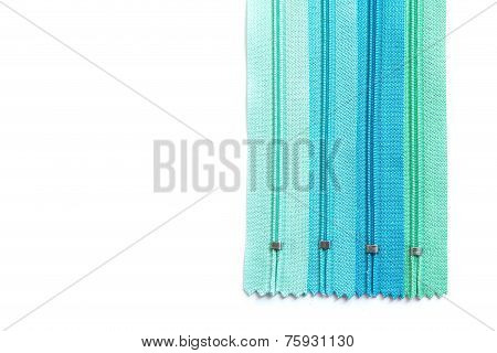 Zipper pastel set isolated on white background