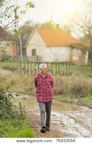 Senior Man In The Village