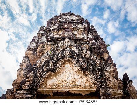 Sukhothai historical park at Sukhothai province in Thailand,Wat Pra Pai Loang