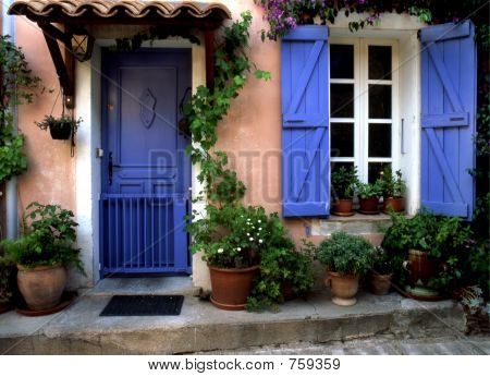 Blue Door in Provence - France