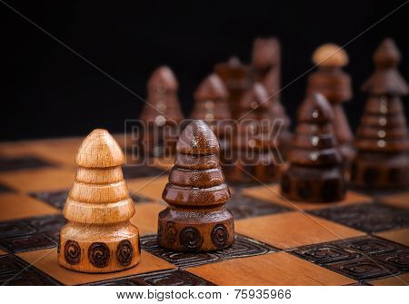 Chess, One Against All Concept.