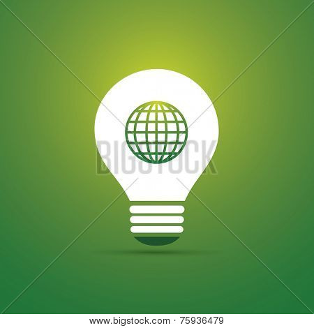Green Eco Energy Concept Icon - Sustainable World