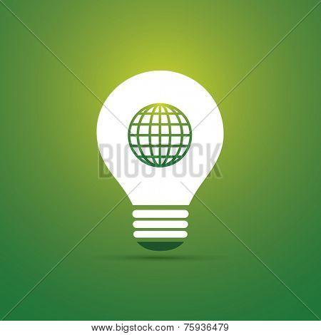Green Eco Energy Concept Icon - Sustainable World