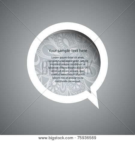 Speech Bubble with Ornament Pattern