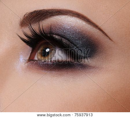 Glamour Eye make up  close up