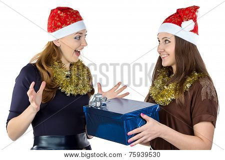 Photo of happy women with the gift