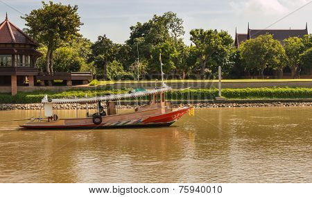 Tugboat In Chaophraya River