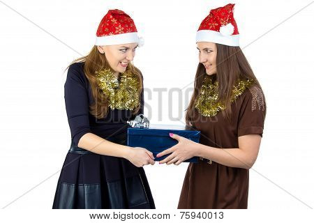 Image of young women with the gift
