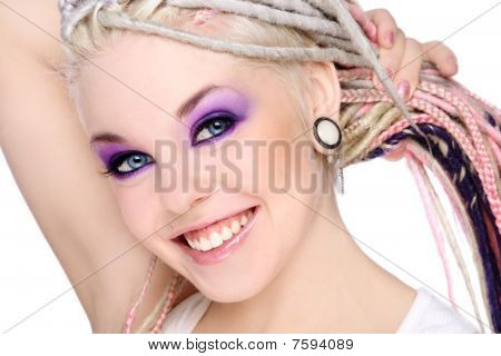Smiling Girl With Dreads