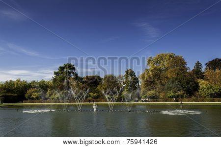Fountain At The Chateau De Versailles Gardens