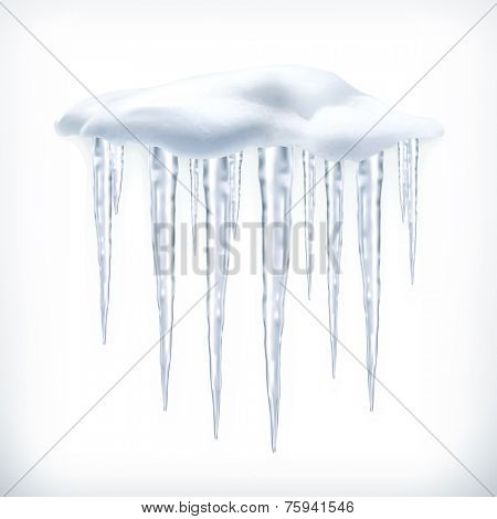 Icicles, vector object